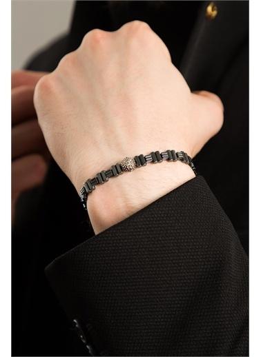 Elika Silver Bijuteri Bileklik Siyah